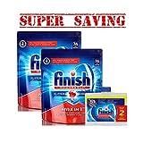 finish dishwasher basket - 2XFinish Dishwasher Detergent Soap, Max In 1 Powerball , 74 Tablets & 2 Pk Finish Dishwasher Cleaner 2 X 250 Ml- Super Saving1
