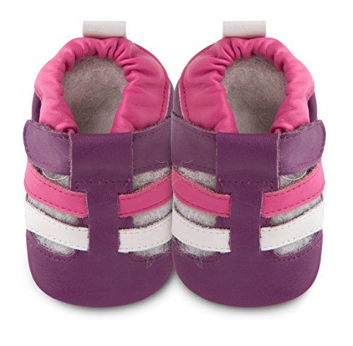 Shoo shoo schoenen van leer met zachte zool, maat S, pruim