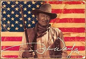 John Wayne Flag Tin Sign