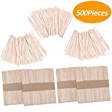Senkary 500 Pieces Wooden Wax Sticks Waxing Sticks Wood Wax Applicator Sticks for Hair Removal (200 Pieces Large and 300 Pieces Small)