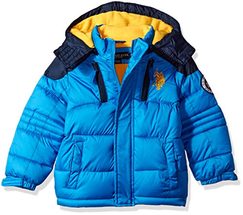 U.S. Polo Assn. Boys' Bubble Jacket (More Styles Available), Blue Tile, 14/16