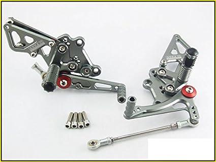 2013-2014 Kawasaki Ninja 300R Area 22 CNC Adjustable Rear Sets Grey Rearsets