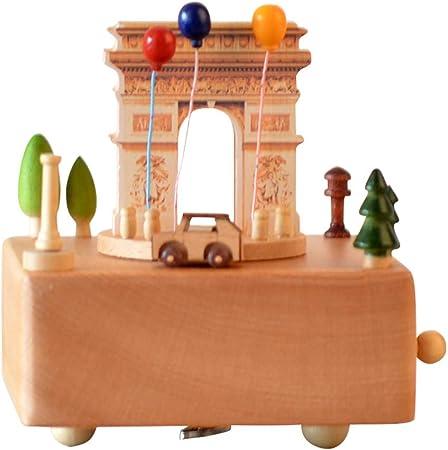 enheng Caja de música Personalizada de Navidad Texto Personalizado Caja Musical Caja Musical de Madera para Regalo de cumpleaños de Navidad Caja de música 3D grabada Gratis para niñas: Amazon.es: Hogar
