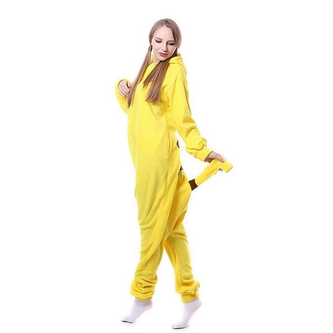 DASENLIN Pijama Cosplay con Unisex Ropa para Mujer Mono Cashmere Piel Kashi Cadena De Hombres Y