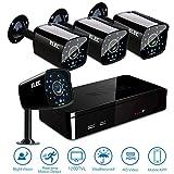 ELEC 8CH 960H DVR 8-Channel 1200TVL Home CCTV Surveillance Security Cameras System, Free Mobile Phone Remote View, Remote Access (8CH 4CAM 960H) Review