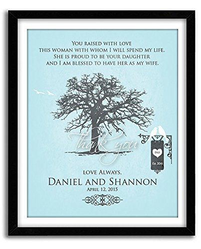 Amazon.com: You Raised With Love This Woman, Wedding Gift for ...