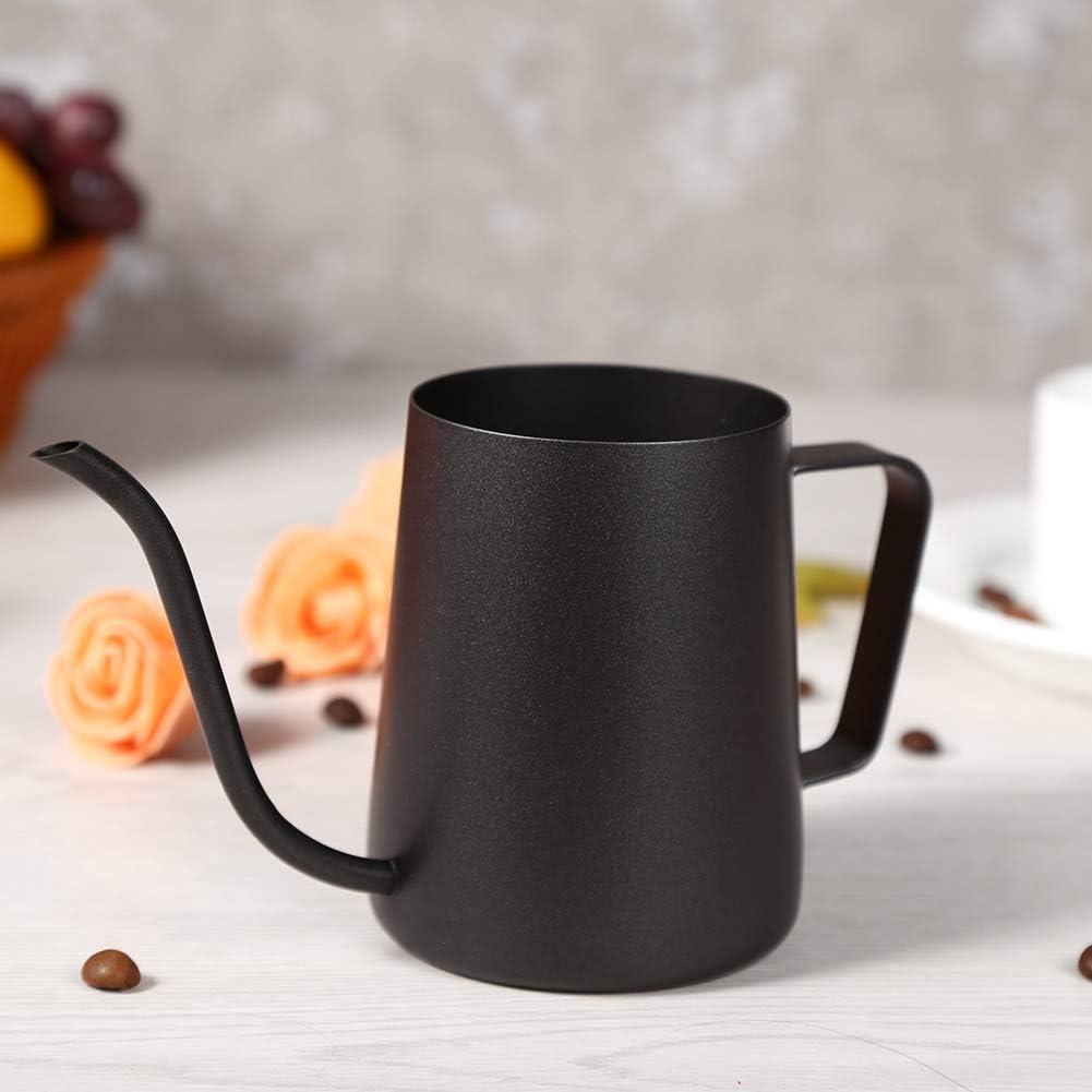 Xinapy 250 Ml Lange Schmale Ausgusskaffeekanne Schwarzer Edelstahl Gie/ßen Kaffeetopf Kessel H/ängendes Ohr Langer Schwanenhals Kaffee Teekanne