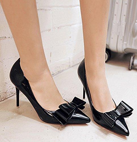 Aisun On Dressy Slip Bow Black Cut Court Low Shoes Pumps Women's With rrw1q4T