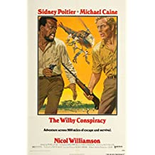 """The Wilby Conspiracy 1975 Authentic 27"""" x 41"""" Original Movie Poster Near Mint Michael Caine Thriller U.S. One Sheet"""