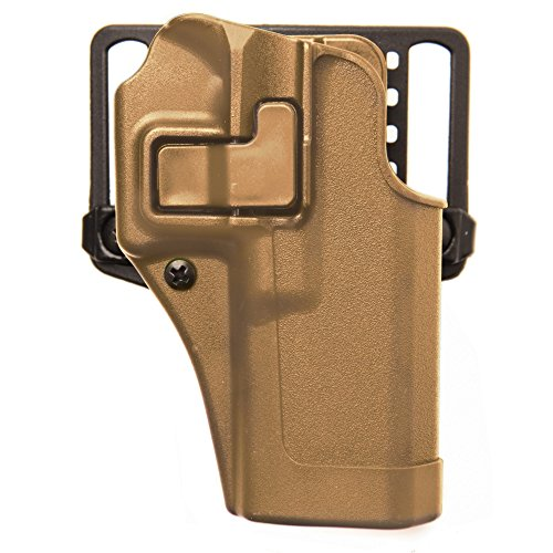 BLACKHAWK! Serpa CQC Carbon Fiber Coyote Tan Holster (Matte Finish), Size 04, Right Hand, (Beretta 92/96(not Elite/Brig.or M9A1)