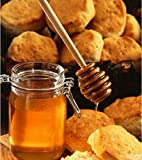 25PCS Wooden Honey Dipper Stick Drizzle Server