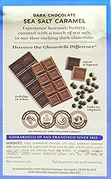Ghirardelli Dark and Caramel Sea Salt, Chocolate Squares, 5.32 oz., 4 Count