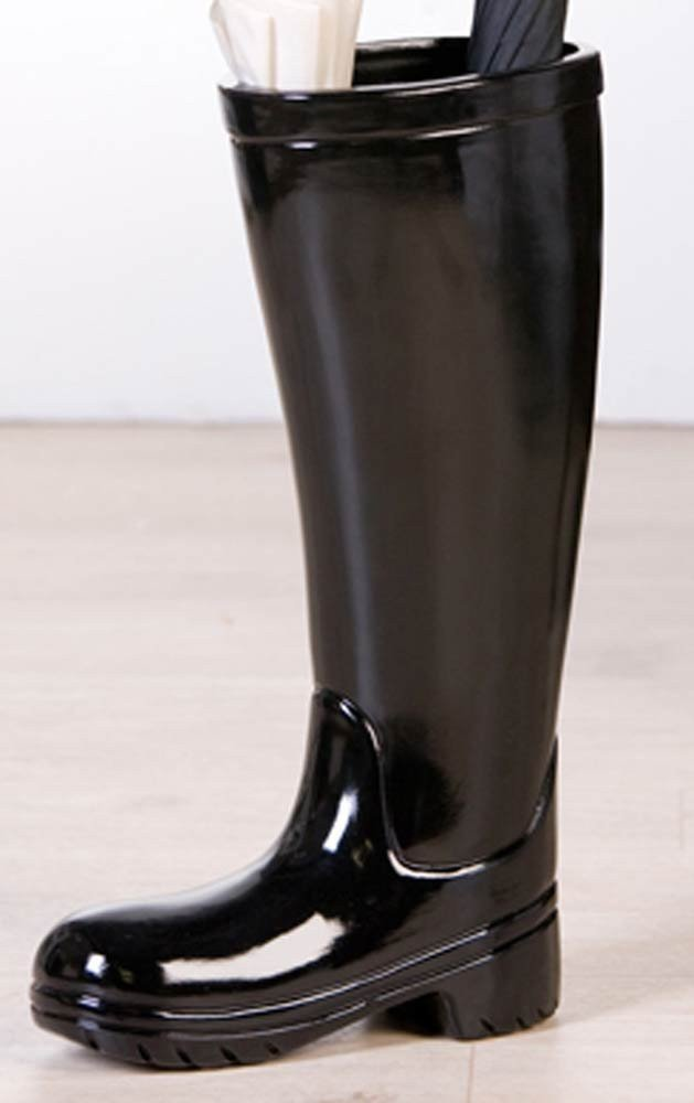 Paragüero, material: cerámica negro - modelo botas de agua - botas de goma Casablanca