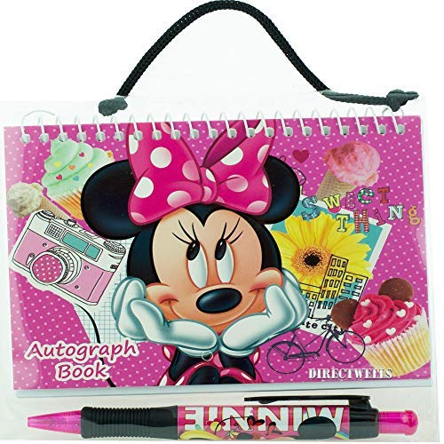(Disney Minnie Mouse Pink Autograph Book with 1 Retractable Pen )