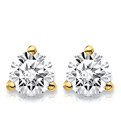 0d23c1da8258 1.5 Carat Lab Grown Diamond 3 Prong (Martini) Stud Earrings (Certified GHI  Color