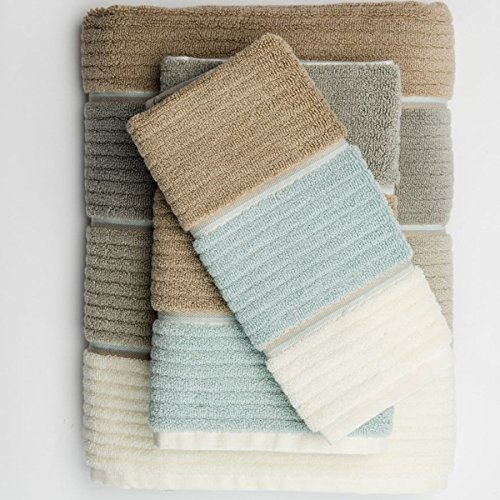 Buenos Aires 6 Piece Towel Set By Caro Home-SEAGLASS GREY by Caro Home