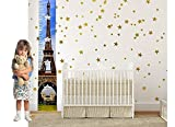 Colorful Height Chart -Growth Chart For Girls - Boys - Kids by Suhashop with Digital Printing | Baby Shower Gift-Nursery Wall Decor-Measure Growth & Height. (EIFFEL TOWER)