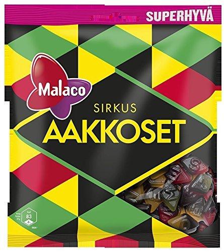 Malaco Aakkoset Sirkus - Original - Swedish - Salmiak - Licorice - Fruity - Alphabet - ABC - Wine Gums - Candy - Sweets - Party Bag 315g