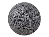 65cm Exercise Ball Cover, yoga ball cover, balance ball cover, birthing ball cover, 100% cotton - Black Swirl
