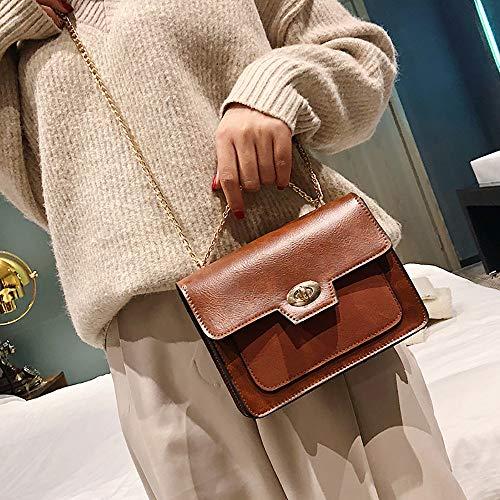 marrone Messenger Retro tracolla tracolla per Sylar a colore Mini borsa a Borsa fibbia tendenza donna per Borsa con con solido catena opaca FqwO1nq5Y