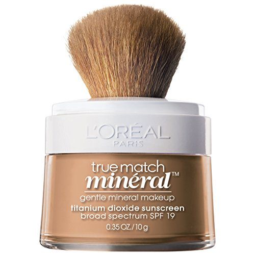 The Natural Sheer Foundation - L'Oréal Paris True Match Loose Powder Mineral Foundation, Creamy Natural, 0.35 oz.