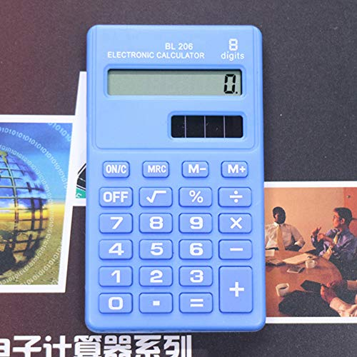 Yanbirdfx Candy Color Calculator8 Digits Pocket Mini Electronic Calculator Students Office Supplies (Light Blue) by Yanbirdfx (Image #1)