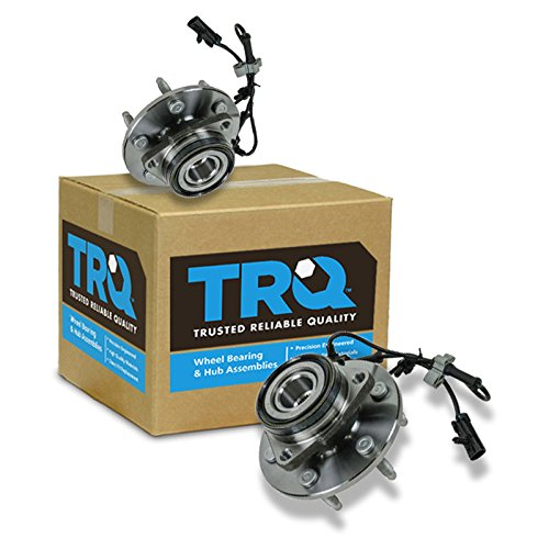 TRQ 2 Front Wheel Hubs & Bearings Pair Set w/ABS for Chevy GMC Truck 4X4 4WD ()