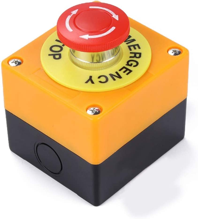 Transporter-Space - Waterproof rot Sign Emergency Stop Mushroom Cap Emergency Stop Push Button Switch No+Nc Ac660V/10A