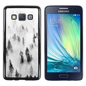 LECELL--Funda protectora / Cubierta / Piel For Samsung Galaxy A3 SM-A300 -- Forest Fog Mist Trees Nature Inspiring --