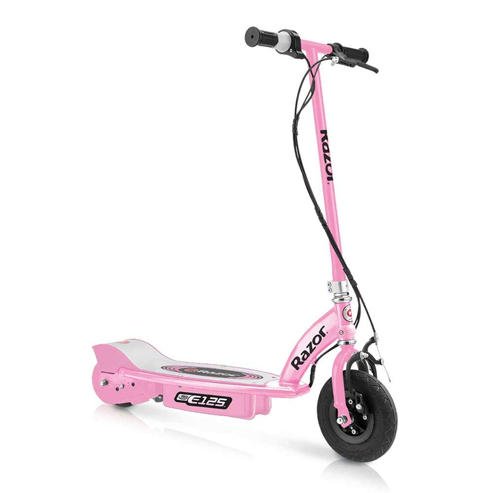 Razor E125 Motorized Rechargeable Kids Youth Electric Scooters, 1 Pink & 1 Blue by Razor
