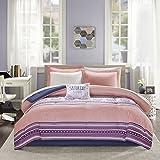 Intelligent Design Gemma Comforter and Sheet Set Coral Full
