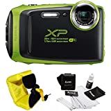 FujiFilm FinePix XP130 Rugged Waterproof WiFi Digital Camera + Focus Floating Strap Bundle (Lime Green)