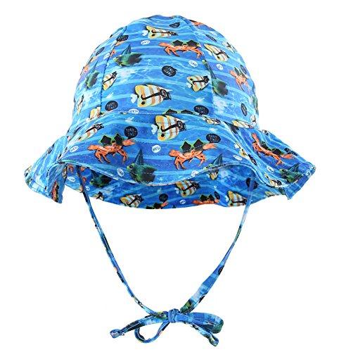 Connectyle Girls Boys Kids Floppy Brim Swimming Hat UPF 50+ Sun Protection Swim Hat for Beach Pool