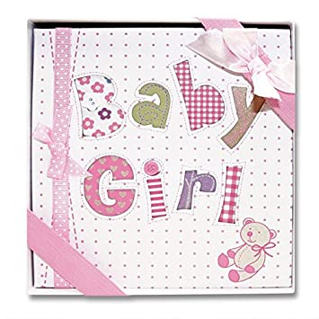 Amazon.com : Occasions Gift Giving - Baby Girl Photo Album, Holds ...