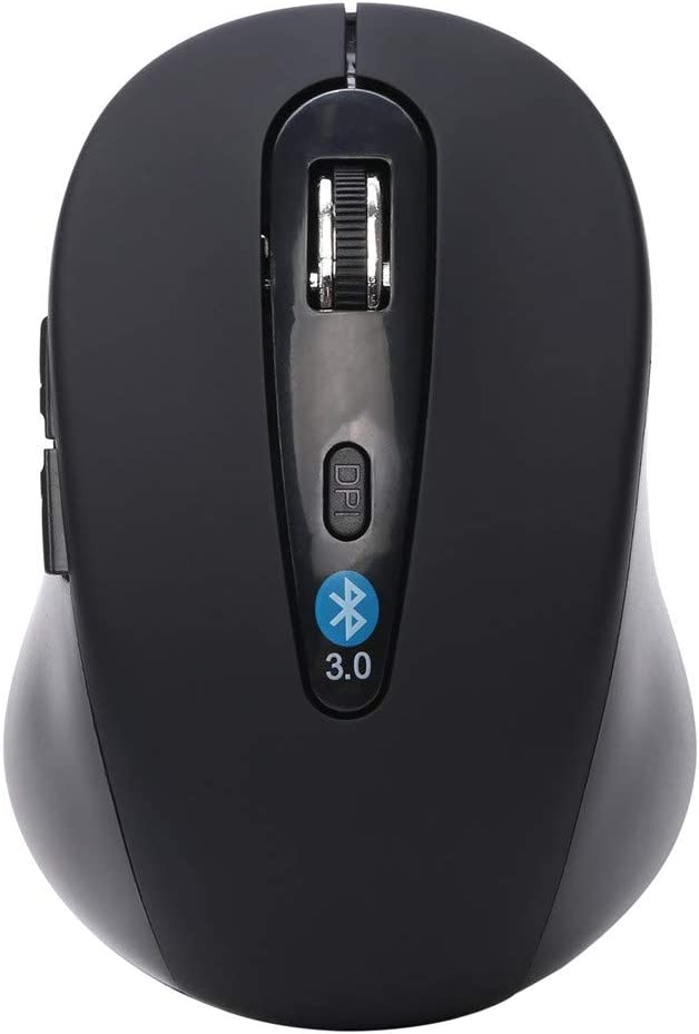 AcisuHu Rechargeable Wireless Mini Bluetooth 1600DPI Optical Gaming Mouse Mice for Laptop 1 pics, Black