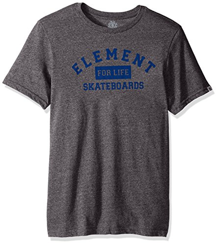 Element Men's Logo T-Shirt Heathered Colors, for Life Grey, X-Large