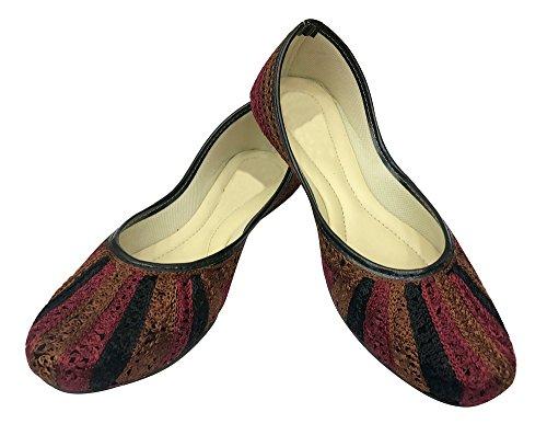 Étape N Style Plat Punjabi Jutti Khussa Chaussures Plates Ballerines Chaussures Perlées Chaussures De Mariée