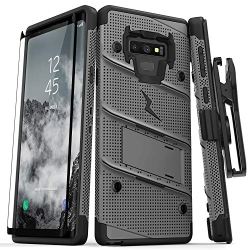 cheap for discount ab4a6 68050 Zizo Bolt Series Galaxy Note 9 Case with Holster, Lanyard, Military ...