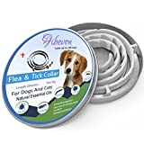 fibevon Flea and Tick Collar for Dogs Cats - Prevention and Control Fleas - Ticks and Pests for 8 Months - Hypoallergenic and Safe Design - 1 Size Fully Adjustable Waterproof Kitten Collar