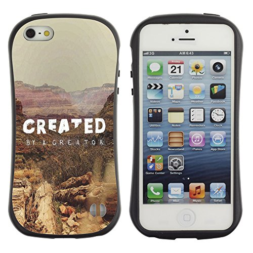 DREAMCASE Citation de Bible Silicone et Rigide Coque Protection Image Etui solide Housse T¨¦l¨¦phone Case Pour APPLE IPHONE 5 / 5S - CREATED BY A CREATOR