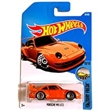 Hot Wheels 2017 Porsche 993 GT2 Factory Fresh Orange 30/365, Long Card by Mattel