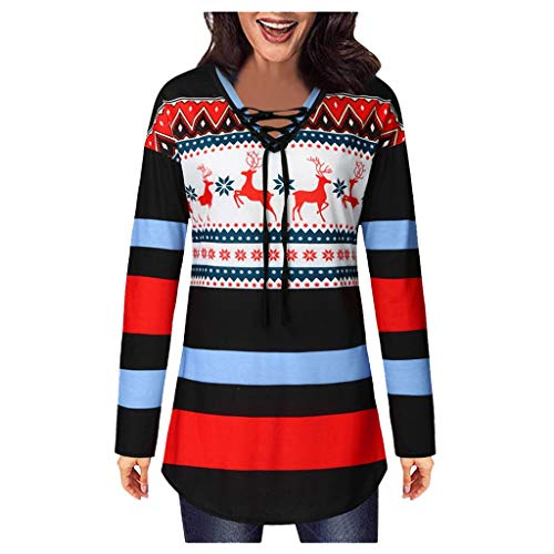 Reooly Christmas Lady Estampado de Invierno con una pequeña Blusa ...