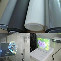 HOHO Transparent Holographic Projection Film Adhesive Rear Projection Screen Sticker A4 Sample 21cmx29.7cm