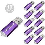 KOOTION 10PCS 16GB USB 2.0 Flash Drive Memory Stick Thumb Drive USB Drive, Purple