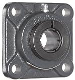 Sealmaster SF-12TC Standard Duty Flange Unit, 4 Bolt, Regreasable, Contact Seals, Skwezloc Collar, Cast Iron Housing, 3/4