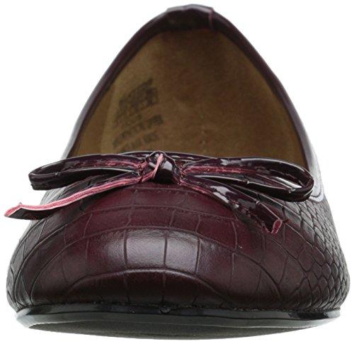 Flat ficus Wanted Burgundy Shoes Flat Ballet Shoes ficus Wanted Womens Womens Ballet vwPU5qnn7