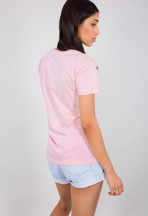 Alpha Industries Women T-Shirt Basic Small Logo: Amazon.es: Ropa y ...