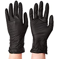 Microflex MK-296-S MidKnight Powder-Free Examination Glove, 9.6 Length, 3.1 Cuff Thickness, 4.7 Palm Thickness, 5.5 Finger Thickness, Small, Black (Pack of 100) by Microflex