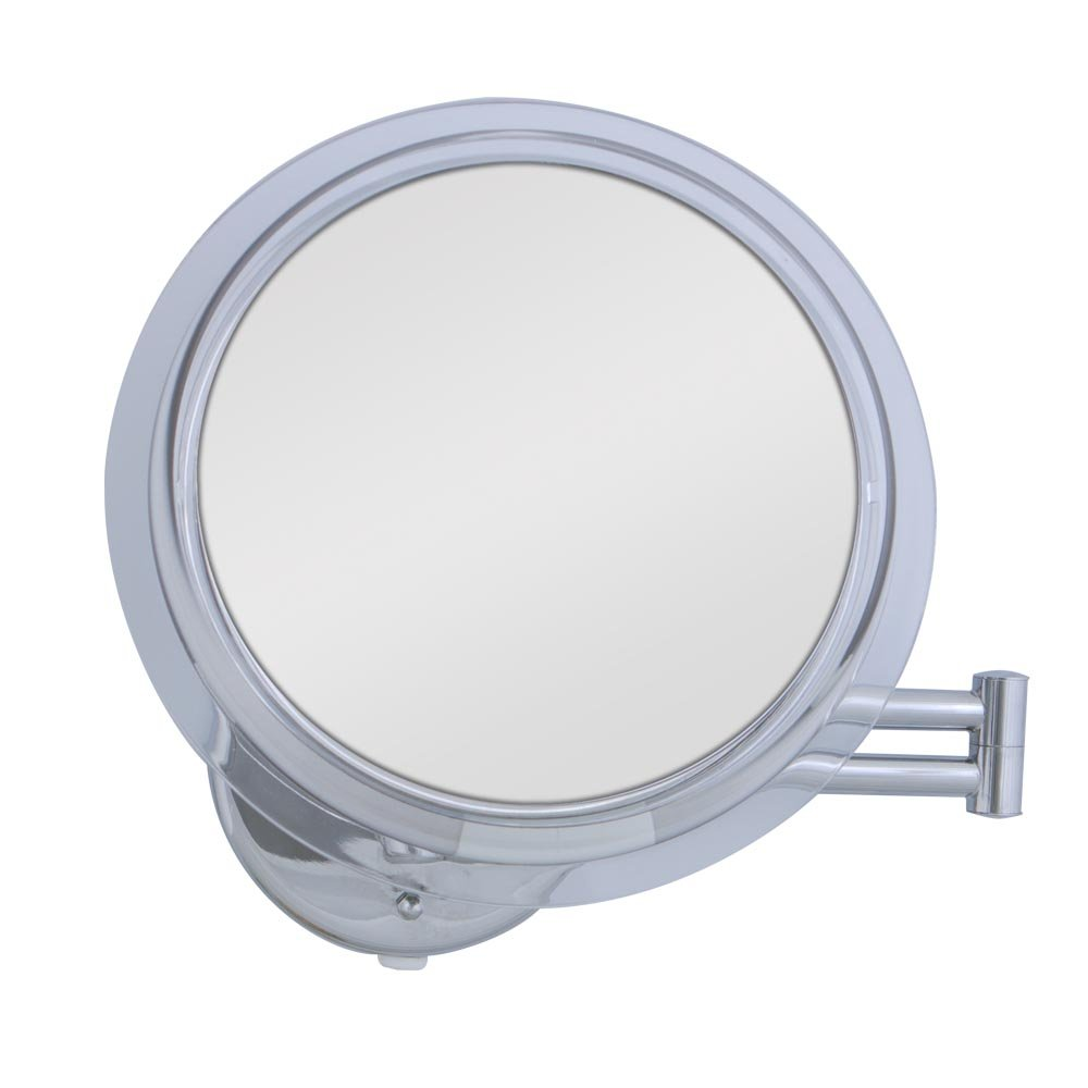 Zadro Wall Mount Surround Light with 100 Watt Fluorescent Bulb and 5X Magnification In Chrome, Chrome Finish, 9 Inch