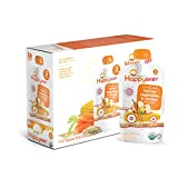 Happy Baby Organic Stage 3 Baby Food Hearty Meals Harvest Vegetables & Chicken w/ Quinoa, 4 Ounce Pouch (Pack of 16) Baby Food Pouches, 2g Fiber, Rich in Vitamin A, Non-GMO Gluten Free No Added Sugars